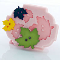 Silicone Maple Leaf Button Mold Resin Polymer Clay Epoxy Fondant Mint Candy (726