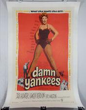 DAMN YANKEES 1958 ORIGINAL MOVIE POSTER - TAB HUNTER - GWEN VERDON