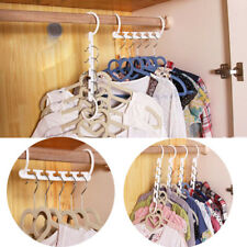 New Plastic Multi Dual Clothes Hanger Folding Hook Coat Rack Wardrobe Organizer