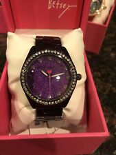 Betsey Johnson  Sparkle Analog Bracelet Watch - Metallic PURPLE BJ00190-83
