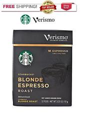 Starbucks Verismo Coffee 12 count Blonde Espresso Roast FREE SHIPPING