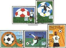 Costa de marfil 552-556 (edición completa) usado 1978 Fútbol-WM ´78, Argentina