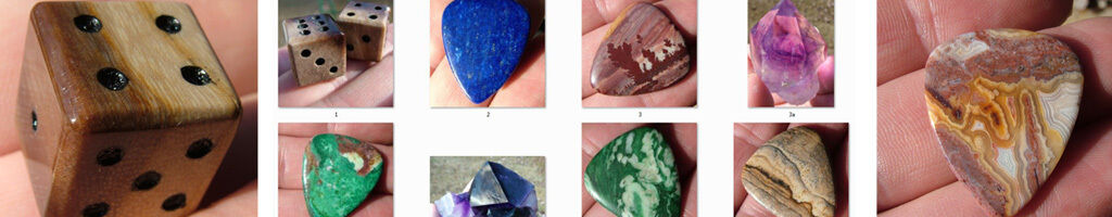 Stone Guitar Picks and Carvings