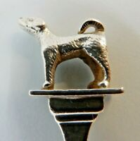 FOXHOUND Puppy Walking Solid SILVER Prize Hunting SPOON, Birmingham 1935.