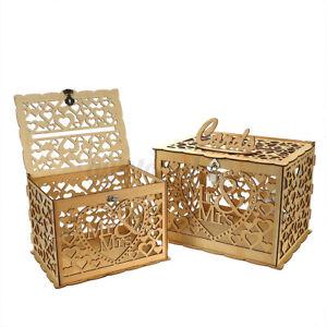 DIY Holz Kartenbox Hochzeit Glückwunschkartenbox Briefbox Geschenkkartenbox DE