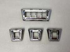 Set 4 1955 1956 Packard Power Window Chrome Switch Plates in good used condition