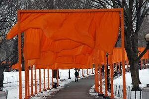 New York Central Park Christo's Gate original signed Giclee photograph by Arnold