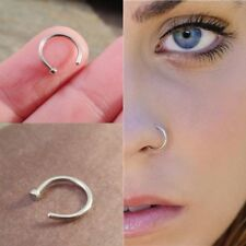 Small Silver Nose Ring Hoop 8mm Extra Small 0.6mm Thin Cartilage Earring