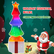 LED Christmas Tree Salt Lamp Lighting Color-Changing Nightlight Decor T0U2