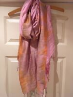 Vietnamese Shawl 100% Eco-friendly And Made In Vietnam Pink And Amber By ONG