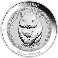 2021 1 oz Silver Australian Wombat Perth Mint .9999 Fine BU