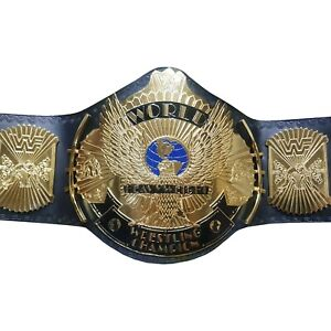 WWF World Heavyweight Wrestling Winged Eagle Championship Belt Adult 4mm Plates