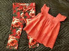 Excellent Baby Gap Skinny Jeans Rose red Age 2 M&S top shirt 18-24 next