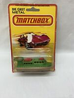 Matchbox Lesney Superfast No. 2 Hovercraft Rescue 1980 England Carded Die Cast
