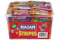 MAOAM STRIPES FRUIT FLAVOUR CHEWS 840 g TUB 120 PIECES SWEETS CART KIDS PARTY
