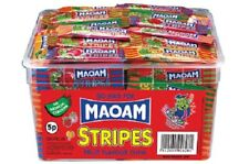 MAOAM STRIPES FRUIT FLAVOUR CHEWS 840g TUB 120 PIECES SWEETS CANDY KIDS PART
