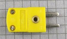 Mini-K Thermocouple Wire Cable Connector Yellow Male : 2pcs per lot