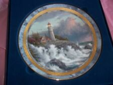 """Thomas Kinkade""""Conquering the Storm"""" 2000 Collectors Decorative Plate~New In Box"""