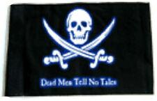 """12x18 12""""x18"""" Jolly Roger Pirate Deadmen Tell No Tales Sleeve Flag Garden"""