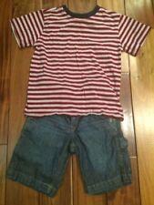 2 pcs lot Boy Girl Unisex Green Dog Greendog T-shirt & Gap Kid Denim Shorts Sz 6
