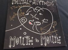 MENTAL AS ANYTHING MOUTH TO MOUTH LP SIGNED BY MARTIN PLAZA REG MOMBASSA INVEST