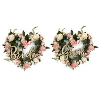 2pcs Bride Groom Wooden Chair Sign Wedding Reception and Ceremony Decor