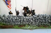 """Civil War 12"""" rock wall gos w/Conte*Barzso*Marx~Playsets~painted 54-60mm"""