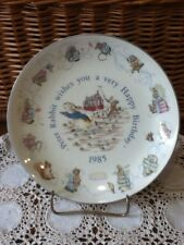 Wedgwood of Etruria Peter Rabbit Happy Birthday Plate 1985 Beatrix Potter
