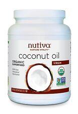 Nutiva Virgin Coconut Oil 78 oz organic COC784 best by 2018-11-10