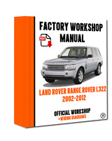 OFFICIAL WORKSHOP Manual Service Repair Land Rover Range Rover L322 2002-2012