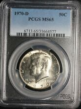 PCGS MS 65 Silver 1970 D Kennedy Half Dollar 50C Uncirculated Coin