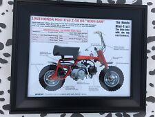 1968 Honda Z50 K0 Slant Guard Minitrail Hi Bar Framed Picture New  10 x 14