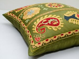 Top Pepper design Lakay tribes Suzani pillow cover Silk on Silk Best hand work