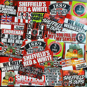 100 x Sheffield United Ultra Style Stickers inspired by Poster Programme SUFC