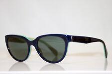 PRADA Womens Designer Sunglasses Blue Cat Eye VPR 10P OAB-1O1 12722