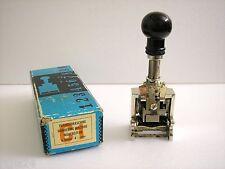 Paginiermaschine aus den 60er Jahren 6 Räder 4½ mm   Numbering Machine