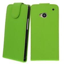 para HTC ONE M7 VERDE - Bolsa de piel sintética, Funda móvil, ,Funda, Cubierta,