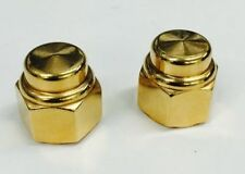 "Lowrider GOLD TOP HAT Axle Nuts schwinn cruiser chopper bmx stingray 3/8""-24"