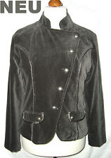 NEU = edler SAMTBLAZER = Military Uniform BLAZER Jacke SAMT = grau = L 40 Jacket