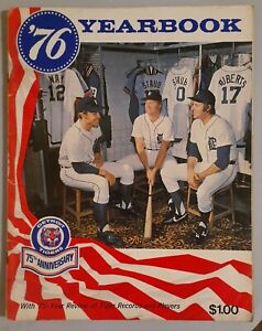 Vintage 1976 Detroit Tigers Yearbook 75th Anniversary Major League Baseball