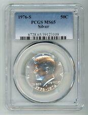 1976 S SILVER KENNEDY HALF DOLLAR 50C PCGS MS65 39123109