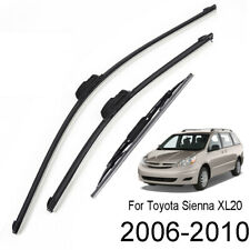3Pcs/set Front Rear Wiper Blades 26''+19''+16'' For Toyota Sienna XL20 2006-2010