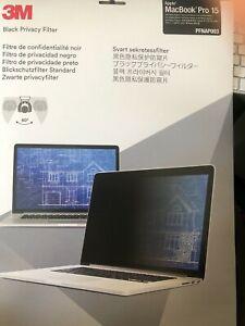 3M Black Privacy Screen Filter 60 Degree fits Apple MacBook Pro 15
