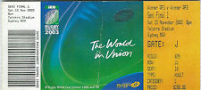 AUSTRALIA v NEW ZEALAND 1st SEMI-FINAL RUGBY WORLD CUP 2003 TICKET