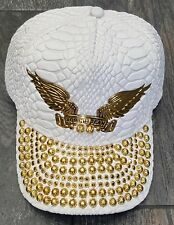 ROBIN/'S JEAN GOLD WING  HAT CAP OSFA 100/% AUTHENTIC BLACK//GOLD