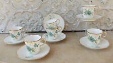6 tasses et sous tasses Porcelaine 1900 Limoges ou Paris