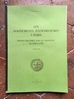 Alineaciones De Encoignures París Liga Permiso Délivrés El Châtelet 1668-1789