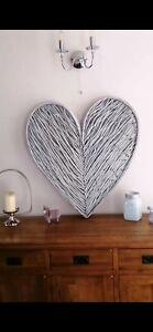 87cm Grey Twig Heart