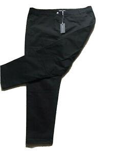 Brand new LAURA ASHLEY Black Cotton Stretch Jeans  size 20