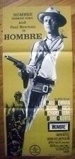 HOMBRE Original 1960s Western Daybill Movie Poster Paul Newman